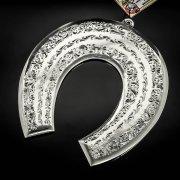 Кубачинская серебряная подкова ручной работы большая