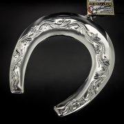 Кубачинская серебряная подкова ручной работы большая арт.6214