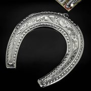 Кубачинская серебряная подкова ручной работы большая арт.6218