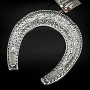 Кубачинская серебряная подкова ручной работы большая арт.6228