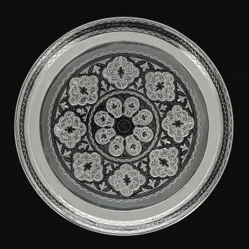 Серебряный поднос Кубачи (диаметр 18 см)