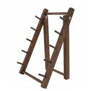 Деревянная подставка для ножей складная (дуб) арт.10036