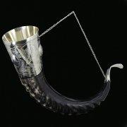 Элитный рог кавказского тура с пиалой арт.6945