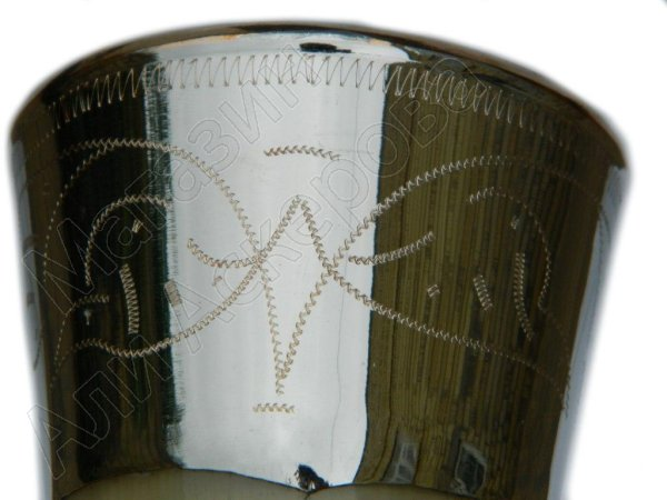 Рог бычий сувенирный средний мельхиор
