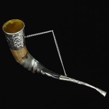 Кавказский рог бычий (отделка - мельхиор)