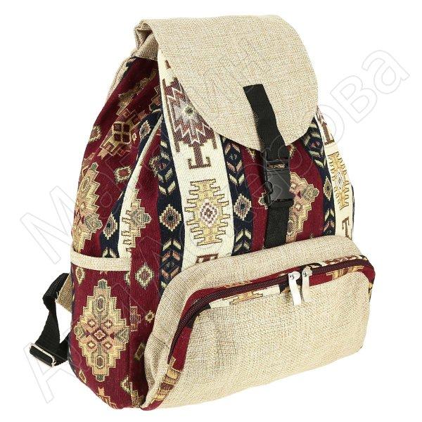 Рюкзак в этно стиле из ткани