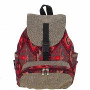 Рюкзак в этно стиле из ткани ручной работы арт.9124
