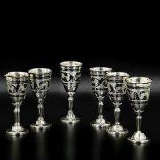 Серебряные рюмки Кубачи ручной работы (6 персон)