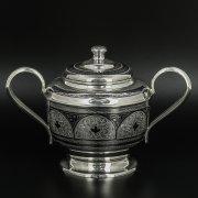 Серебряная сахарница Кубачи ручной работы арт.9805