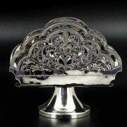 Серебряная салфетница Кубачи ручной работы