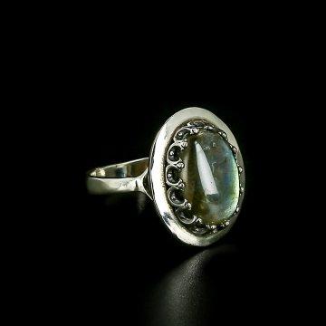 Серебряное кольцо (лабрадор)