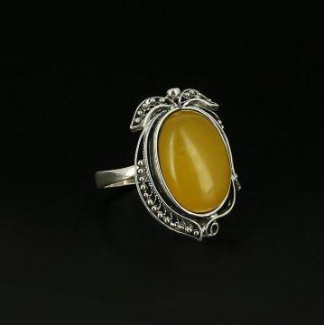 Серебряное кольцо (агат)
