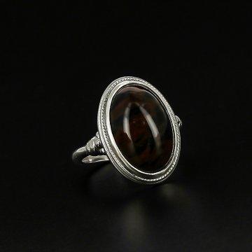 Серебряное кольцо (обсидиан)