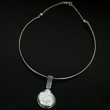 Серебряное колье авторская работа (барочный жемчуг)