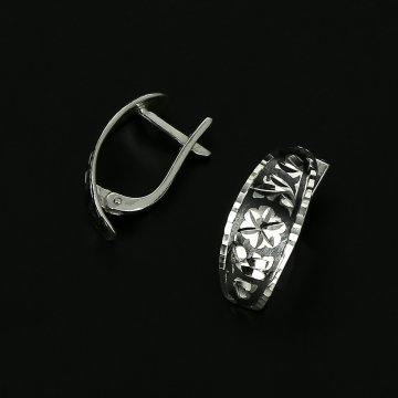 Серебряные серьги с чернением