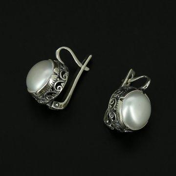 Серебряные серьги (жемчуг)