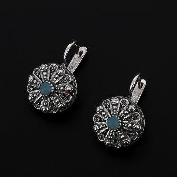 Серебряные серьги (бирюза)