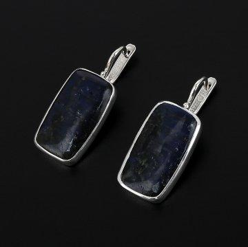 Эксклюзивные серебряные серьги (лабрадор)