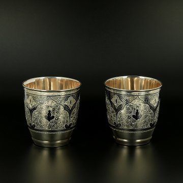 Серебряные стаканы (2 персоны)