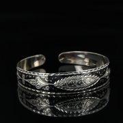 Серебряный кубачинский браслет с чернением арт.11063