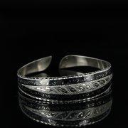 Серебряный кубачинский браслет с чернением арт.11065