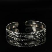 Серебряный кубачинский браслет с чернением арт.11073
