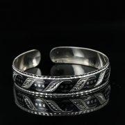 Серебряный кубачинский браслет с чернением арт.11076