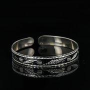 Серебряный кубачинский браслет с чернением арт.11078