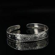 Серебряный кубачинский браслет с чернением арт.11079