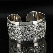 Серебряный кубачинский браслет с гравировкой арт.11103