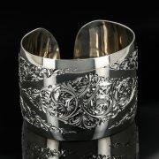 Серебряный кубачинский браслет с гравировкой арт.11104