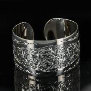 Серебряный кубачинский браслет с гравировкой арт.11106