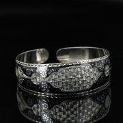 Серебряный кубачинский браслет с чернением арт.11110