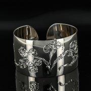 Серебряный кубачинский браслет с гравировкой арт.11111