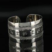 Серебряный кубачинский браслет с гравировкой арт.11113