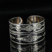 Серебряный кубачинский браслет с чернением арт.11119