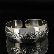Серебряный кубачинский браслет с гравировкой арт.11121