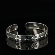 Серебряный кубачинский браслет с гравировкой арт.11122