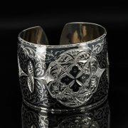 Серебряный кубачинский браслет с чернением арт.11124