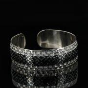 Серебряный кубачинский браслет с чернением арт.11125