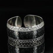 Серебряный кубачинский браслет с чернением арт.11126