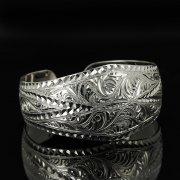 Серебряный кубачинский браслет с гравировкой арт.11129