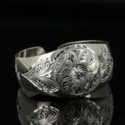 Серебряный кубачинский браслет с гравировкой арт.11132