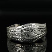 Серебряный кубачинский браслет с гравировкой арт.11133