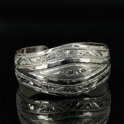 Серебряный кубачинский браслет с гравировкой арт.11134