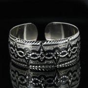 Серебряный кубачинский браслет с чернением арт.11136