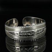 Серебряный кубачинский браслет с гравировкой арт.11137