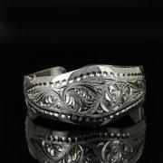 Серебряный кубачинский браслет с гравировкой арт.11138