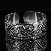 Серебряный кубачинский браслет с чернением арт.11139