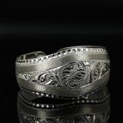 Серебряный кубачинский браслет с гравировкой арт.11140